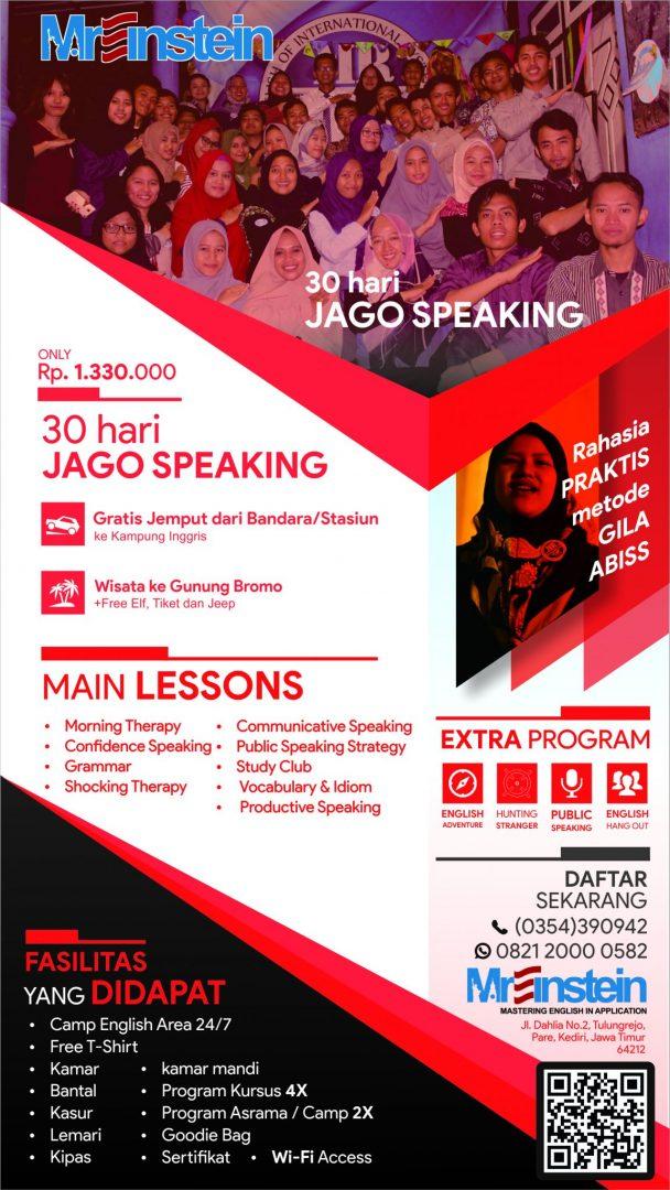 brosur 30 hari jago speaking kampung inggris